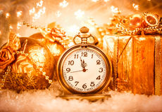 Christmas pocket watch Stock Images