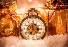 Christmas pocket watch Royalty Free Stock Image