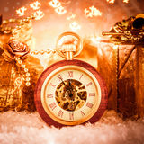 Christmas pocket watch Royalty Free Stock Images