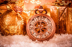 Christmas pocket watch Stock Photos
