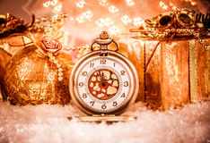 Christmas pocket watch Royalty Free Stock Photography