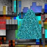 Christmas poinsettia tree modern background Royalty Free Stock Image