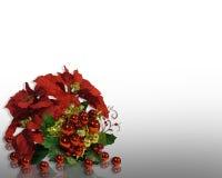 Christmas Poinsettias stock illustration