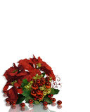 Christmas Poinsettias Border Stock Image