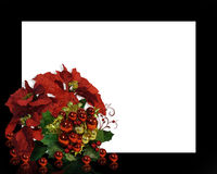 Christmas Poinsettias Frame Stock Photo