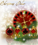Christmas poker background Stock Images