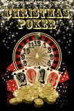 Christmas poker background, 2016 New Year. Illustration Royalty Free Stock Photography
