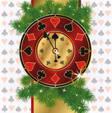 Christmas poker background. Vector illustration royalty free illustration
