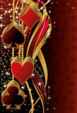 Christmas poker  banner Royalty Free Stock Images