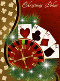 Christmas poker banner Royalty Free Stock Image