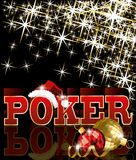 Christmas poker card Royalty Free Stock Images