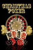 Christmas poker card, 2016 New Year, vector Royalty Free Stock Photo