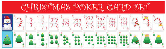 Christmas Poker Card Set. EPS10 file available Royalty Free Stock Photos