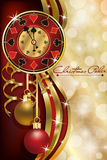 Christmas poker casino background stock illustration