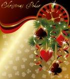 Christmas poker greeting background Stock Photo