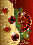 Christmas poker greeting banner Stock Image