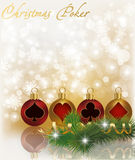 Christmas poker greeting card Stock Image
