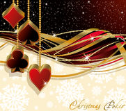 Christmas poker greeting card Stock Images