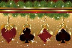 Christmas poker greeting card royalty free illustration