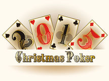 Christmas Poker happy new 2015 year cards Stock Photo