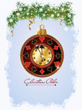 Christmas Poker invitation card Royalty Free Stock Photo