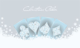 Christmas poker invitation card Stock Images