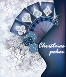 Christmas poker invitation card, vector Royalty Free Stock Photos