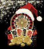 Christmas poker, 2016 New Year, vector Royalty Free Stock Photo