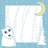 Christmas polar bear Stock Photography