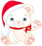 Christmas Polar Bear Royalty Free Stock Photos