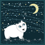 Christmas polar bear frame Stock Images