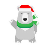 Christmas polar bear Stock Images