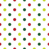 Christmas Polka Dot background in red Royalty Free Stock Photos