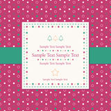Christmas polka dot greeting card Royalty Free Stock Image