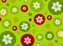 Christmas Polka Dot Poinsettia Background Stock Photos