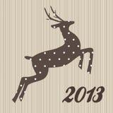Christmas  polka dotted reindeer Stock Photo