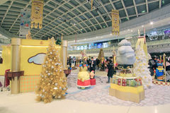 Christmas Pom Pom Purin decoration in Metro City Plaza Stock Images