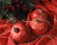 Christmas - pomegranates Royalty Free Stock Image