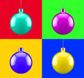 Christmas pop art decoration Royalty Free Stock Images