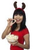 Christmas Popcorn Stock Image