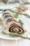 Christmas poppy seed cake Stock Photography