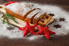 Christmas poppy seed cake Royalty Free Stock Photography