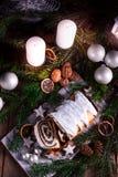 Christmas poppy seed cake Royalty Free Stock Photo