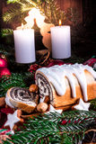 Christmas poppy seed cake Royalty Free Stock Images