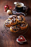 Christmas poppy seed rolls Royalty Free Stock Photos