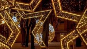 Christmas Poprad, Slovakia. Christmas Decorations in Poprad, Slovakia Royalty Free Stock Photos