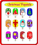 The Christmas Popsicle party. Stock Photo
