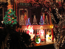 Christmas Porch in Baltimore Stock Image