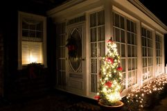 christmas porch sun Στοκ φωτογραφία με δικαίωμα ελεύθερης χρήσης