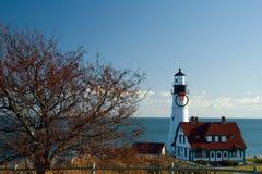 Christmas at Portland Head Lighthouse Stock Photos